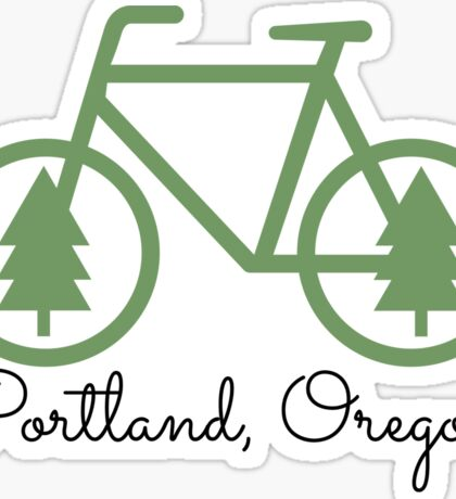 Portland - PDX - City of Trees and Bicycles Sticker
