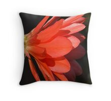 Red Zygo Flower in Profile Throw Pillow