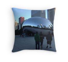 Cloud Gate, Evening, Chicago - Summer 2012 Throw Pillow