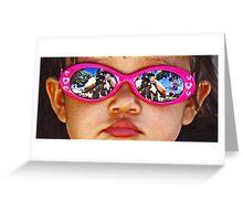 Pink Sunglasses Greeting Card