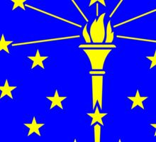 State of Indiana silhouette and flag Sticker