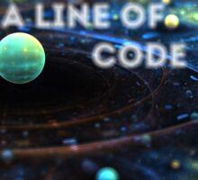 Line Of Code Sticker