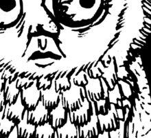 Owl Dude Sticker