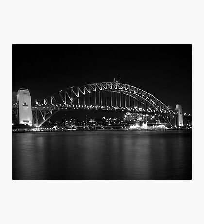 bridge in black and white Photographic Print