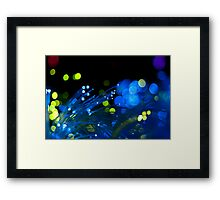 Optic Fibre Colors Close Up Framed Print
