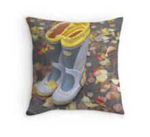 Left Out in the Rain Throw Pillow