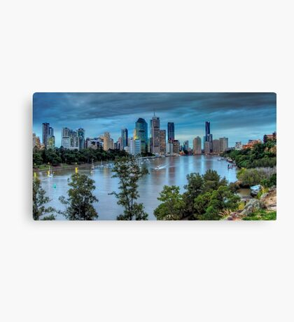 The River Commute Canvas Print