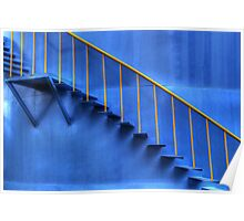 blue - yellow  incline - decline Poster