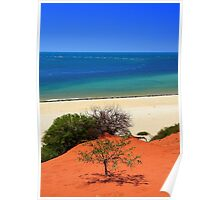 Red sand and sea Poster