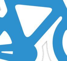 Blue Simple Bike Sticker