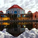 Tuggeranong Library Just on Nightfall stunning reflection by Kym Bradley