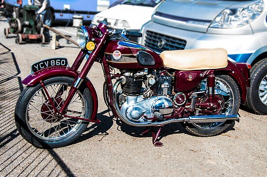 Vintage Ariel Motorcycle by Paul Howarth
