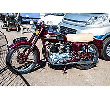 Vintage Ariel Motorcycle Photographic Print