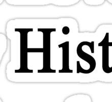 I Love My History Teacher  Sticker