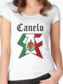 Saul Alvarez Canelo #2 Women's Fitted Scoop T-Shirt