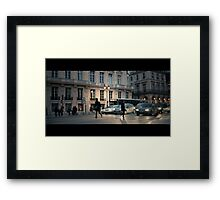 Red Light Runner Framed Print