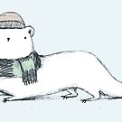 Ermine in Hat & Scarf by Sophie Corrigan