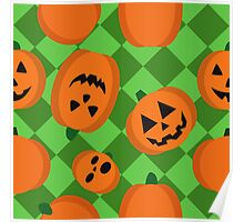 Halloween Pumpkin Pattern Poster
