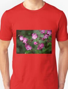 Green and Pink Floral Unisex T-Shirt