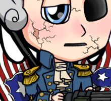 Bioshock Infinite George Washington Columbia Motorized Patriot Chibi Sticker