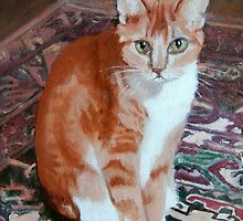 Spike on Granny's Carpet by Jean Farquhar