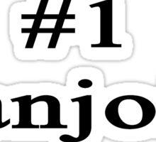 #1 Banjoist  Sticker