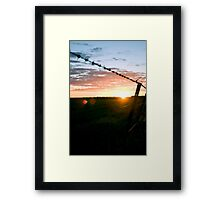 Wimmera sunset Framed Print