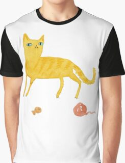 Nice Ginger Cat Graphic T-Shirt