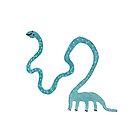 Mental-Necked Diplodocus by Sophie Corrigan