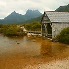 The Boat Shed at Dove Lake by Michael Matthews