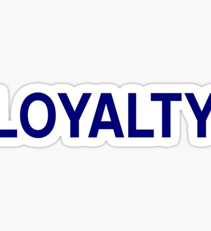 Loyalty Sticker