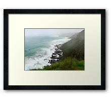 Foggy Ocean View  Framed Print