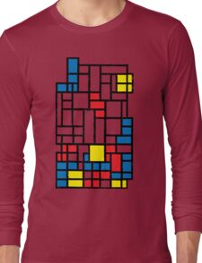 COMPOSITION WITH FALLING BLOCKS Long Sleeve T-Shirt