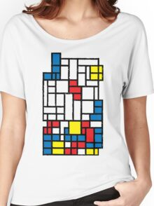 COMPOSITION WITH FALLING BLOCKS Women's Relaxed Fit T-Shirt