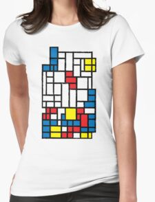 COMPOSITION WITH FALLING BLOCKS Womens Fitted T-Shirt