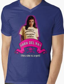 Yes She Is A Girl Mens V-Neck T-Shirt