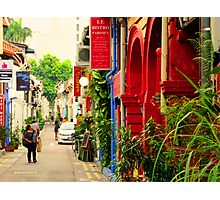 shopping lane Photographic Print