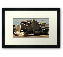 Truck 7942 Green Framed Print