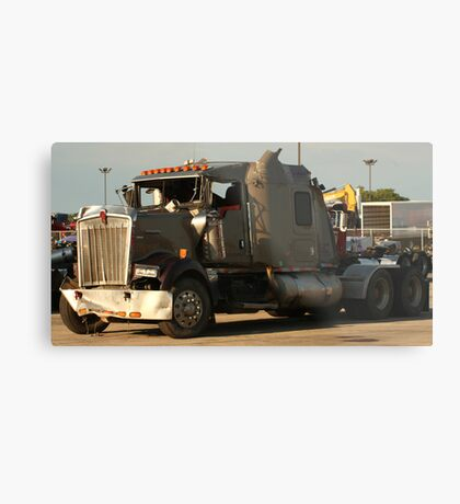 Truck 7942 Green Metal Print