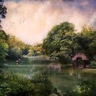 Lake in Central Park by John Rivera