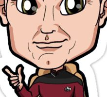 Star Trek TNG Captain Jean-Luc Picard Chibi Sticker