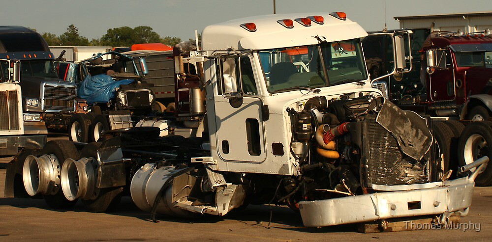 Truck 7952 White by Thomas Murphy