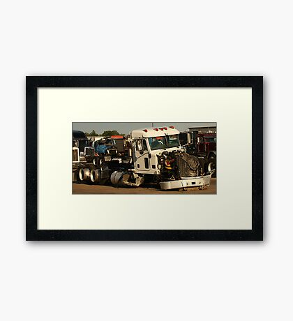 Truck 7952 White Framed Print