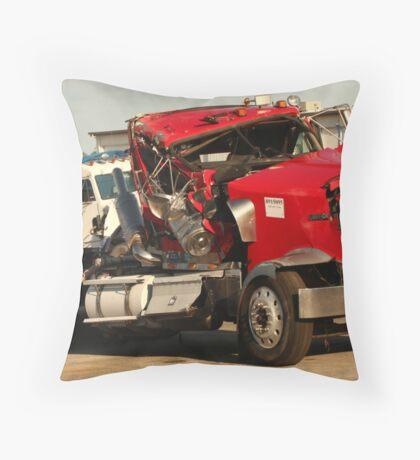 Truck 7953 Red Throw Pillow