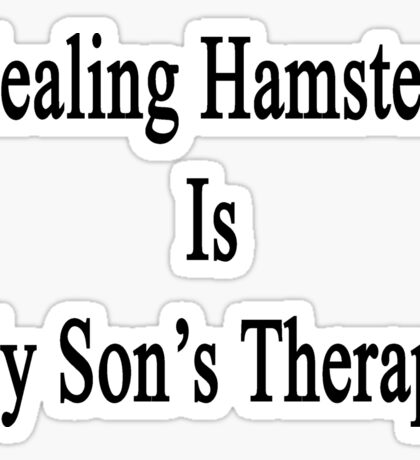 Healing Hamsters Is My Son's Therapy  Sticker
