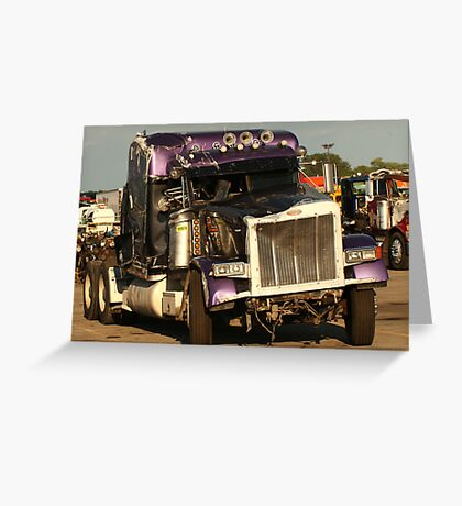 Truck 7950 Purple Greeting Card
