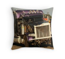 Truck 7950 Purple Throw Pillow