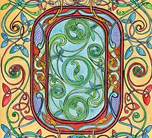 Celtic letter O by Lyndsey Hale