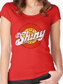 Shiny (light apparel and stickers) Women's Fitted Scoop T-Shirt