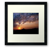 The end of yet another day Framed Print